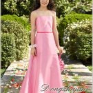 A-line Spagetti straps floor-length Satin Flower girls Dress Custom Size WG005-28