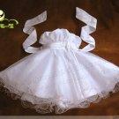 A-line spagetti straps kness-Length white organza Flower Girl Dress WG007-10