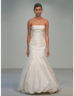 Mermaid Strapless Floor-length Satin wedding dress for brides 2010 style(WDA0548)