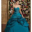Ball Gown Sweetheart Floor Length Satin wedding dress for brides 2010 style(WDE0154)