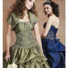 Ball Gown Strapless Floor Length Satin wedding dress for brides 2010 style(WDE0157)
