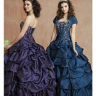 Ball Gown Strapless Floor Length Satin wedding dress for brides 2010 style(WDE0160)