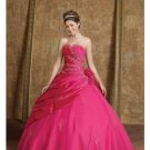 Ball Gown Strapless Floor Length Satin wedding dress for brides 2010 style(BST0151)