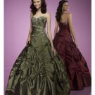 Ball Gown Sweetheart Floor Length Satin wedding dress for brides 2010 style(WDE0169)