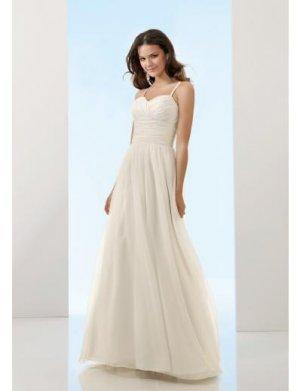 A-Line/Princess spaghetti straps Brush Train Chiffon wedding dress for brides 2010 style(WDE0142)