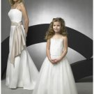 A-line Round-Neck Knee-Length Chiffon Flower Girl Dress new style(FGD0067)