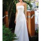 A-Line/Princess Strapless Chapel Train Chiffon wedding dress (WS0069) for brides new Style