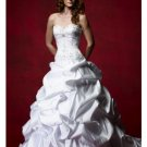 A-Line/Princess Sweetheart Chapel Train Satin wedding dress (WD921112) for brides new Style
