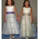 A-Line Round-neck Tea-length Organza Flower girls Dress new Style(FGD0029)