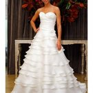 A-Line/Princess Sweetheart Chapel Train Organza wedding dress (WD006)  for brides new Style