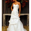 A-Line/Princess Sweetheart Chapel Train Organza wedding dress (WD007) for brides new style