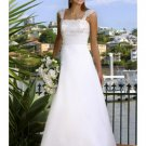 A-Line/Princess Square Chapel Train Satin wedding dress (WS0068) for brides new style