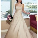 A-Line/Princess Strapless Chapel Train Taffeta wedding dress (WS2101) for brides new style