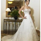 A-Line/Princess Sweetheart Chapel Train Satin wedding dress (WS2100) for brides new style