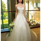 A-Line/Princess Sweetheart Cathedral Train Satin wedding dress (WS2009) for brides new style