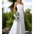 A-Line/Princess Strapless Chapel Train Chiffon wedding dress (WS0074)  for brides new style