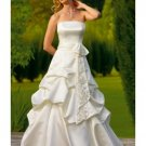 A-Line/Princess strapless Chapel Train Taffeta wedding dress (WS1193) for brides new style