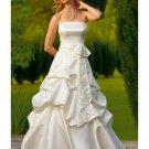 A-Line/Princess strapless Chapel Train Taffeta wedding dress (WS1193) for brides new style