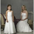 A-line/Princess Spagetti Straps Floor Length Satin Flowergirl Dresses NEW style(FGD0081)