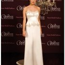 A-Line/Princess Strapless Chapel Train Satin wedding dress (SEW0020) for brides new style