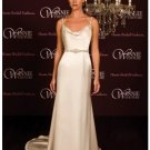 A-Line/Princess spaghetti straps Chapel Train Satin wedding dress (SEW0024)  for brides new style