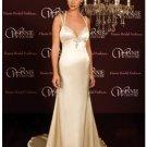 A-Line/Princess V-neck Chapel Train Satin wedding dress (SEW0025) for brides new style