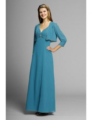 A-Line V-neck Floor- Length Chiffon Mother of the Bride Dresses new Style(MWYN025)