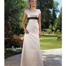 A-Line Scoop Floor Length Satin Mother of the Bride Dresses new style(MWYN127)