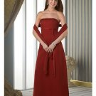 Column/Sheath Strapless Tea-length Chiffion Mother of the Bride Dresses new style(MWYN087)