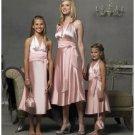 Column/Sheath Halter Top Knee-length Satin Bridesmaid Dress for brides new Style(BD0299)
