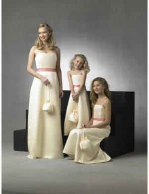 A-Line/Princess Strapless Floor Length Satin Bridesmaid Dresses for brides new style(BD0265)