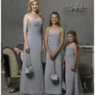 Column/Sheath Spagetti Straps Floor-length Satin Bridesmaid Dress for brides new Style(BD0297)