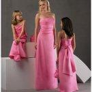 A-Line/Princess Strapless Floor-Length Satin Bridesmaid dress for brides new Style(BD0249)