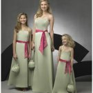 A-Line/Princess Strapless Floor Length Satin Bridesmaid Dresses for brides new style(BD0273)