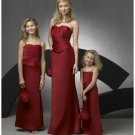 Column/Sheath Strapless Floor Length Satin Bridesmaid Dresses for brides new style(BD0274)