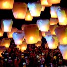 100× SKY FIRE WHOLESALE LOTS FLYING CHINESE SKY LANTERNS BALLOON BIRTHDAY WEDDING PARTY SUPPLIES