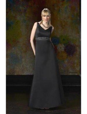A-Line/Princess V-neck Floor-Length Satin Bridesmaid dress for brides new Style(BD0059)