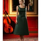 A-Line/Princess Scoop Knee-Length Satin Bridesmaid dress for brides new Style(BD0018)