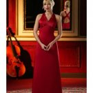 A-Line/Princess Halter Top Floor-Length Satin Bridesmaid dress for brides new Style(BD0019)
