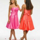 A-Line/Princess Spaghetti Straps knee-length Satin Bridesmaid Dresses for brides new style(BDS0001)
