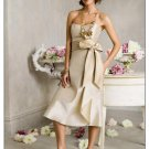 A-Line/Princess Strapless Tea-length Satin Bridesmaid dress for brides new Style(BDS0024)