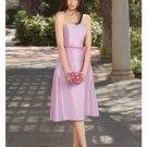 A-Line/Princess Strapless Tea-length Satin Bridesmaid dress for brides new Style(BDS0023)