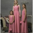 Empire Halter Top Floor Length Chiffon Bridesmaid Dresses for brides new style(BD0295)