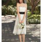 A-Line/Princess Strapless Tea-length Lace Bridesmaid dress for brides new Style(BDS0022)