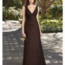 A-Line/Princess V-neck Floor-Length Satin Bridesmaid dress for brides new Style(BDS0060)
