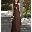 A-Line/Princess Halter Top Floor-Length Satin Bridesmaid dress for brides new Style(BDS0059)