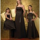 A-Line/Princess Strapless Floor-Length Satin Bridesmaid dress for brides new Style(BD0254)