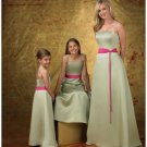A-Line/Princess Strapless Floor-Length Satin Bridesmaid dress for brides new Style(BD0261)