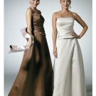 A-Line/Princess Strapless Floor-Length Satin Bridesmaid dress for brides new Style(BD0321)