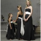 Column/Sheath Strapless Floor Length Satin Bridesmaid Dresses for brides new style(BD0282)